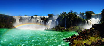 Iguazu Waterfalls. One of the famous waterfalls in the world Royalty Free Stock Photos