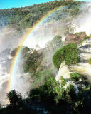 Iguazu Waterfalls Rainbow. Iguazu Iguacu falls, largest series of waterfalls on the planet, located between Brazil, Argentina, and Paraguay with up to 275 stock images