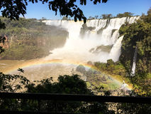Iguazu Waterfalls Rainbow. Iguazu Iguacu falls, largest series of waterfalls on the planet, located between Brazil, Argentina, and Paraguay with up to 275 stock photos