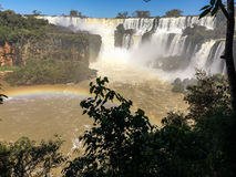 Iguazu Waterfalls Rainbow. Iguazu Iguacu falls, largest series of waterfalls on the planet, located between Brazil, Argentina, and Paraguay with up to 275 royalty free stock images