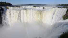 Iguazu waterfalls time lapse stock video