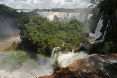 Iguazu waterfalls unesco world heritage. From the argentina part Stock Image