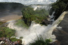 Iguazu waterfalls unesco world heritage. From the argentina part Royalty Free Stock Photography