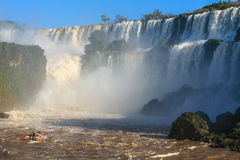 Iguazu waterfalls. View from Argentina Stock Photography