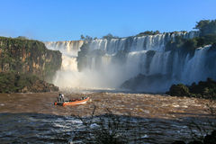 Iguazu waterfalls. View from Argentina Royalty Free Stock Images