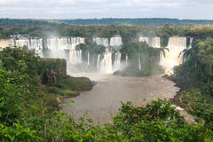 Iguazu waterfalls. View from Brazil Stock Images