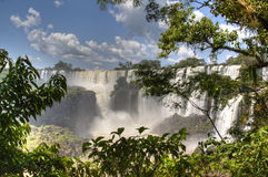 Iguazudalingen Royalty-vrije Stock Afbeeldingen