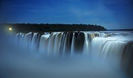 Iguazudalingen, Duivelskeel, Garganta del Diablo Royalty-vrije Stock Foto