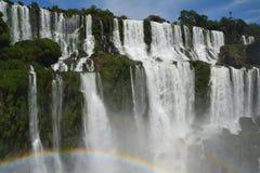 Iguazudalingen op het Argentijnse Deel stock afbeeldingen