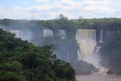 Iguazuwatervallen op de grens van Argentinië en Stock Fotografie