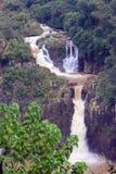 Iguazuwatervallen op de grens van Argentinië en Stock Afbeelding