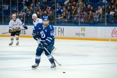 Igumnov Ivan 56 på hockeyleken Arkivbilder