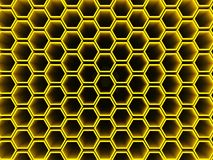 Ihålig sexhörningsmodell för honungskaka Arkivbilder
