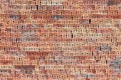 Ihålig tegelsten på konstruktionslokal Arkivbild