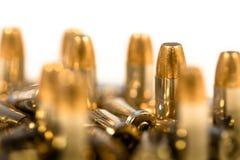 Ihåliga spetsammunitionar för handeldvapen Royaltyfria Foton