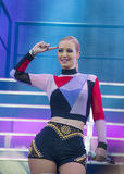 IHeartRadio Music Festival. LAS VEGAS - SEP 20: Rapper Iggy Azalea performs on stage at the 2014 iHeartRadio Music Festival Village on September 20, 2014 in Las Royalty Free Stock Images