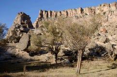 Ihlara与14公里峡谷,卡帕多细亚的谷风景 免版税库存照片