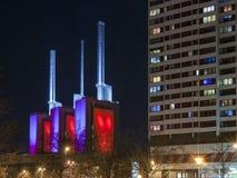 Ihme-Zentrum przy nocą zdjęcie royalty free