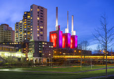 Ihme-Zentrum and thermal power station Linden in Hannover Stock Photos