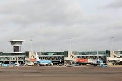 Ihn Hollande de Schiphol d'aéroport d'Amsterdam Images libres de droits