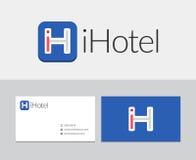 IHotel logo vektor illustrationer