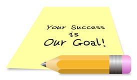 Ihr Erfolg ist unser Ziel stock abbildung