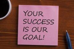 Ihr Erfolg ist unser Zielkonzept lizenzfreies stockbild