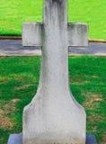 Ihr Name hier kreuzen Grundstein stockbild