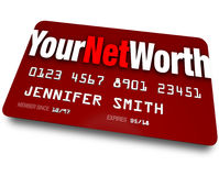 Ihr Nettowert Kreditkarte-Bewertung- von Schuldtitelnwert Stockfoto