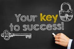 Ihr Schlüssel zum Erfolg stockfotografie