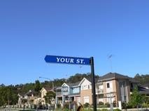 Ihr Straßenschild Stockfotos