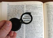 Ihr Suchwerkzeug lizenzfreie stockbilder