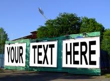 Ihr Text hier Lizenzfreies Stockfoto