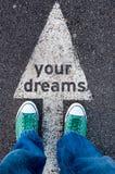 Ihr Traumzeichen Stockfoto
