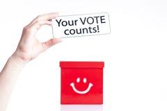 Ihre Abstimmung-Zählimpulse Lizenzfreie Stockbilder