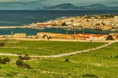 Ihre Augen sehen jetzt Favignana und über dem tyrrhenischen Meer für Trapani, Sizilien mit mir lizenzfreie stockbilder