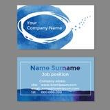 Ihre Firmennamen-Visitenkarteschablone Lizenzfreies Stockfoto