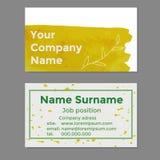 Ihre Firmennamenvisitenkarten Stockbild