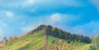 Ihre Seite des Berges Stockbild