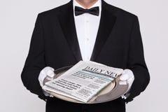 Ihre Tageszeitung Lizenzfreies Stockbild