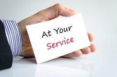 An Ihrem Service Lizenzfreies Stockfoto