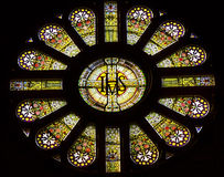 IHS Rose Window Saint Nicholas Church Amsterdam Netherlands Stock Photography
