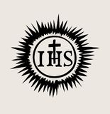 IHS The symbol of the Lord Jesus, art vector design. Art vector design, EPS and JPEG files Royalty Free Stock Image