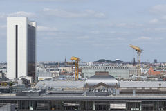 IHZ-House and roofs with construction site  in  Berlin Royalty Free Stock Photography