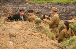 ii俄国战士统一战争世界年轻人 库存照片