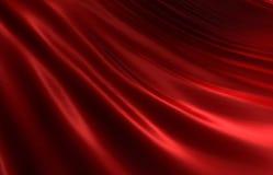 ii红色起波纹的丝绸 皇族释放例证