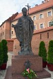 ii约翰・保罗教皇雕象 免版税库存图片