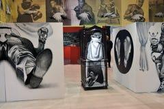 II街道艺术比安奈尔ArtMosSphere在莫斯科 免版税库存图片