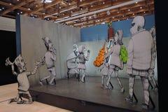 II街道艺术比安奈尔ArtMosSphere在莫斯科 免版税图库摄影