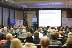 II årlig internationell konferens av ledarna och de ledande specialisterna Royaltyfri Foto